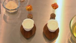 Lisa Allen Beetroot Ice Cream Honey Foam Dessert on Cook's Questions