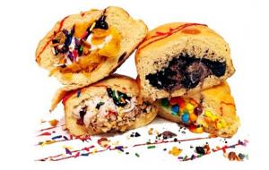 Milky Bun Warm Doughnut stuffed with Ice Cream