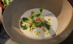 Prawn ajo blanco recipe on Shane Delia's Moorish Spice Journey
