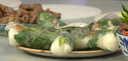 Mama's secret Vietnamese rice paper rolls recipe on The Morning Show