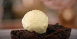 Shane Delia caramelized chocolate brownie with argan oil recipe on Shane Delia's Moorish Spice J ...