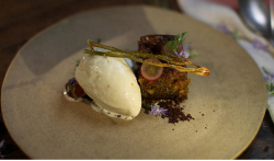 Shane Delia olive oil ice-cream with Pedro Ximénez cake recipe on Shane Delia's Moorish Spice Jo ...