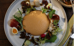 Shane Delia salmorejo salad with pickled quail eggs recipe on Shane Delia's Moorish Spice Journey