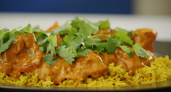 Lorraine Pascale's chicken tikka Masala with fluffy basmati rice on The Best Dishes Ever