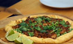 Jermaine Jenas's Jerk Chicken Galette savoury tart on The Great Sport Relief Bake Off