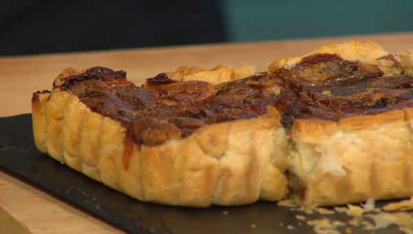 Simon Rimmer Fennel, Kale, Anchovy and Blue Cheese Tart on Sunday Brunch