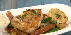 Simon Rimmer's Garlic Chicken with Bread Sauce Recipe on Sunday Brunch