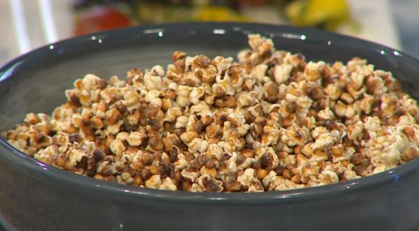 Sorghum grain pop corn on Sunday Brunch