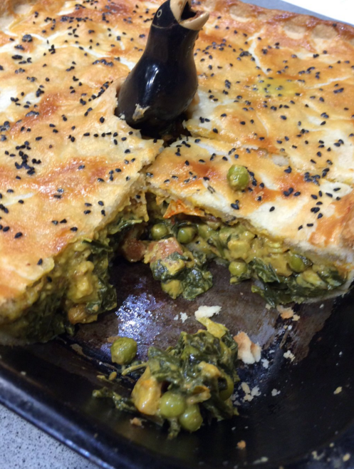 Nigel Barden's Paneer Cheese with Spinach and Pea Pie on Drivetime