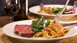 Rachael Ray's Steak and Spaghetti with Pepper Sauce on The Rachael Ray Show