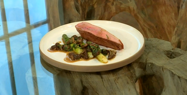 Bryn Williams' roast duck with asparagus and morels on ...