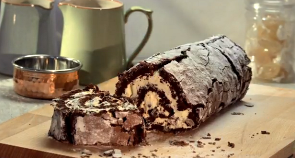 Paul Hollywood Mint Chocolate Roulade