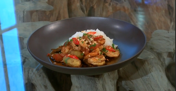 The hairy bikers thai massaman prawn curry with jersey for Aroma royal thai cuisine nj