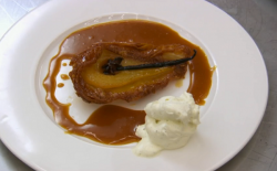 Alexis's pear tarte tatin dessert on Celebrity MasterChef UK