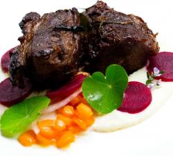 Elena twice cooked lamb with beetroot on MasterChef Australia