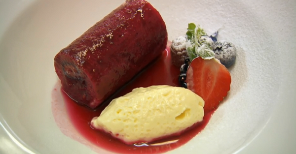 Nigel Haworth's summer fruit pudding with lemon cream dessert on ...