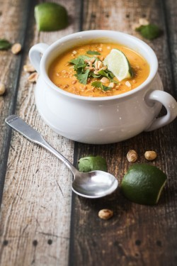 THAI SWEET POTATO AND CARROT SOUP