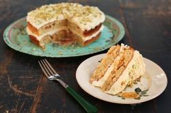 Chetna's Pistachio, cardamom and white chocolate cake on Radio 2 Drivetime