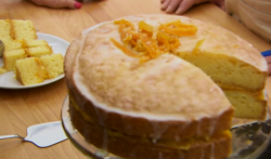Lee's St. Clements orange and lemon drizzle cake on The Great British Bake Off