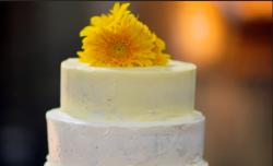 Nadiya Hussain's three-tiered pumpkin wedding cake on The Chronicles of Nadiya