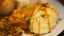 Clair Hoyland 's roast chicken dinner on Eat Well for Less