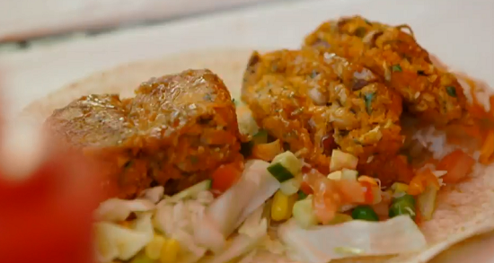 Adrian's sweet potato cakes wraps on Lorraine's Fast, Fresh and Easy ...