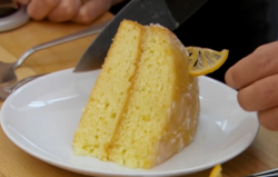 Tom's gin and tonic drizzle cake on The Great British Bake Off