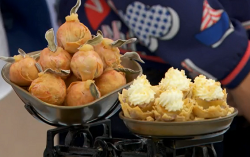 Candice's apple rounds and banoffee whiskey cups on The Great British Bake Off