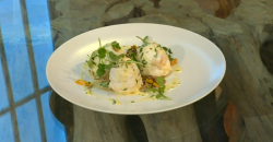 Frederick Forster's Dover sole with wild mushrooms and herb sauce on Saturday Kitchen