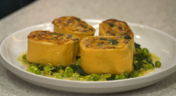 Stephen Terry's rotolo pasta dish on Yes Chef