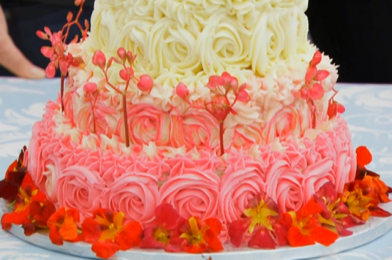 Selasi S Showstopper Three Tiered Ombre Fl Cake On The Great British Bake Off
