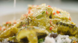 Jamie Oliver's Balinese chicken curry with mushrooms recipe on Jamie's Super Food