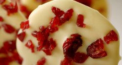 Lorraine Pascale's white chocolate lollipops with cranberries on Lorraine's Fast, Fr ...