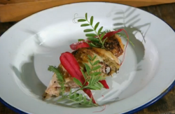Nick and Matt's partridge with wild salad dish on Countryfile