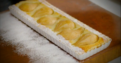 Lorraine's Pear with Almonds and Amaretto Tart dessert on Lorraine's Fast, Fresh and ...