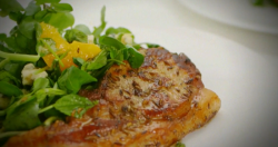 Lorraine Pascale pork chops with salad on Lorraine's Fast, Fresh and Easy Food