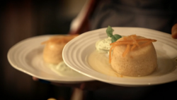 Beverley and Sarah's Seville orange steamed pudding with basil ice cream  on My Kitchen Rules