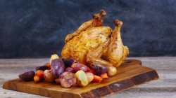 Ayesha Curry's Upright Roasted Chicken on The Rachael Ray Show