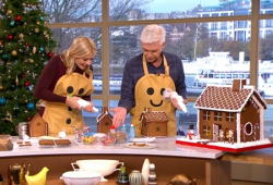 Philip and Holly's festive gingerbread house on This Morning