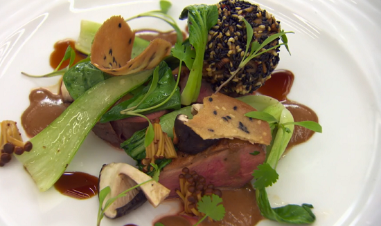 Kirsty's duck dish on MasterChef: The Professionals
