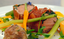 Matei's pork dish on MasterChef: The Professionals