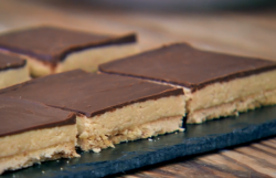 Nadiya's peanut butter squares on Junior Bake Off UK