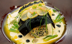 Rich's hake fish with coconut curry dish on MasterChef: The Professionals