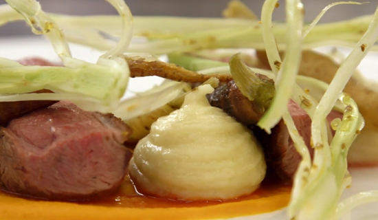 Mark's szechuan duck breast dish on Masterchef The Professionals