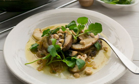 Simon Rimmer's Truffled Mushrooms and Pears dish on Sunday Brunch ...