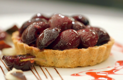 Gary's cherry crumble tart dessert on Masterchef The Professionals