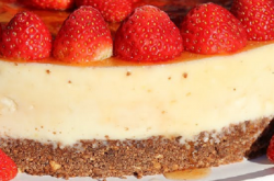 Joel's strawberry cheesecake on Sunday Brunch