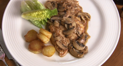Rick Stein's chicken with mushrooms and  Marsala sauce  on Rick Stein's Long Weekends