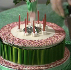 Fanny Cradock Christmas cake on The A to Z of TV Cooking