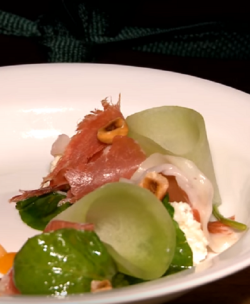 Christopher Sayegh's starter dish with Cannabis as a key ingredient in the recipe